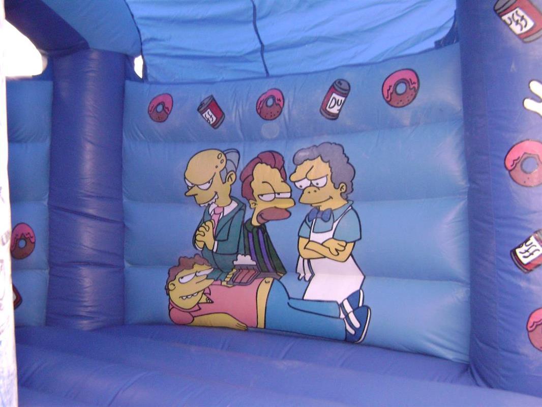 Simpsons Bouncy Castle  Adult Bouncy Castles  Bouncy Castle Hire in Bexleyh # Sunshower Hire_224249