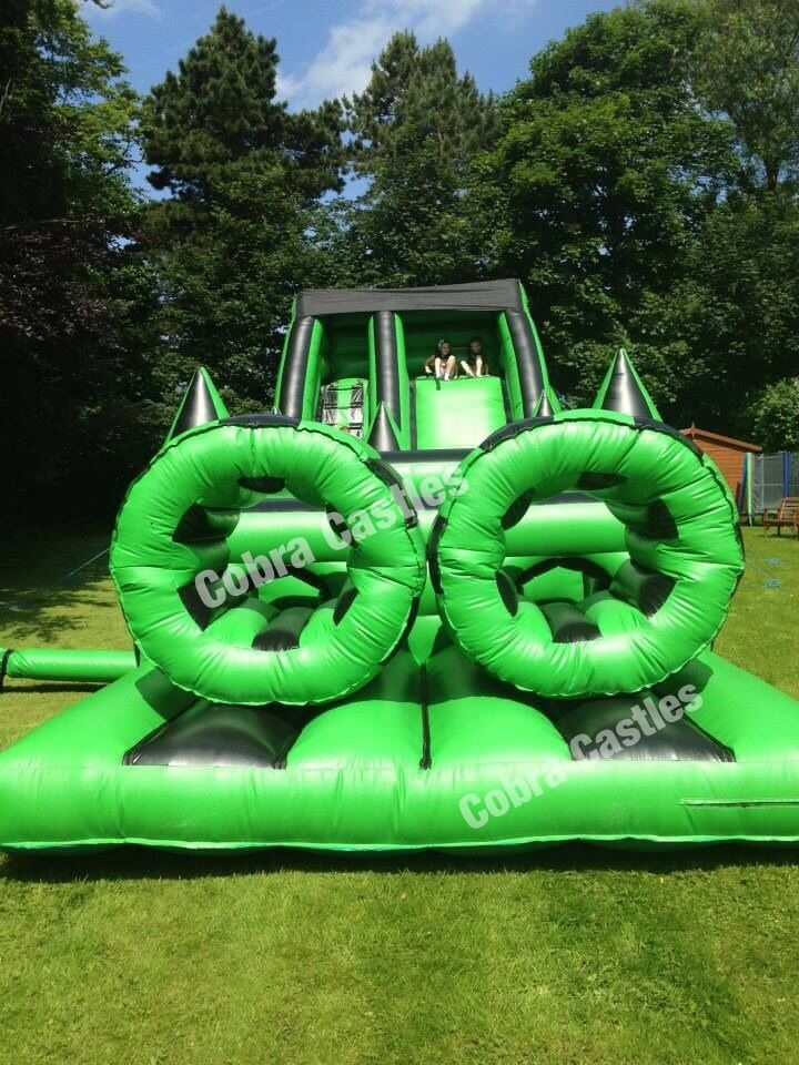 a bouncy castle in Liverpool I saw